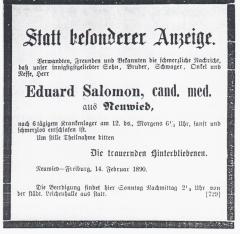 Todesanzeige_Eduard_Salomon_(1890)